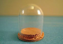 "1"" Scale Miniature M & M Specialties Unfinished Glass Dome"