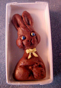"Lola Originals 1"" Scale Boxed Chocolate Bunny"