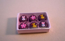 "Lola Originals Hand Crafted 1"" Scale Boxed Easter Chocolates"