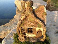 """Fairy Garden """"Enchanted Hollow"""" Resin Fairy Garden House"""