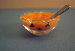 "1"" Scale Bright deLights Glass Bowl Of Halloween Punch"