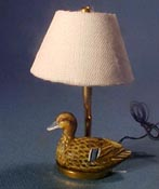 "1"" Scale Female Mallard Table Lamp"