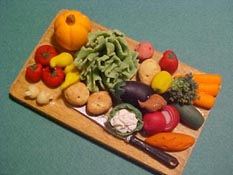 "1"" Scale Fresh Veggies"