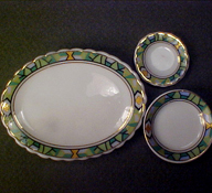 "1"" Scale Green Dish Set"