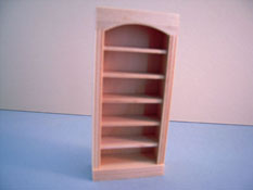 "Houseworks 1/2"" Scale Miniature Unfinished Bookcase"