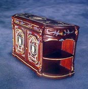 "Bespaq 1/2"" Scale Miniature Hand Painted Mahogany Portia Credenza"