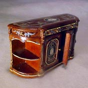 Bespaq 1/2� Scale Miniature Hand Painted Walnut Portia Credenza