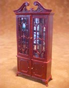 "Bespaq 1/2"" Scale Mahogany Fancy Mullioned China Cabinet"