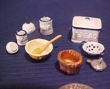 "Warwick 1/2"" Scale Hand Painted Eleven Piece Food Prep Set"