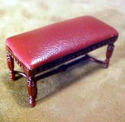 "Bespaq 1/2"" Scale Miniature Mahogany Gallery Library Bench"