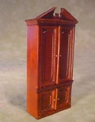 "Bespaq 1/2"" Scale Miniature Walnut Gallery Center Case"