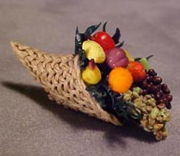 "All Through The House 1/2"" Scale Hand Crafted Filled Cornucopia"
