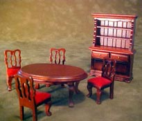 "Townsquare 1/2"" Scale Six Piece Mahogany Dining Room Set"