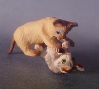 """Falcon 1/2"""" Scale Miniature Playing Kittens"""