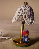 "TEC 1/2"" Scale Miniature Raggedy Girl Table Lamp with Tulip Shade"