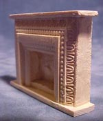 "Unique Miniatures 1/2"" Scale Miniature Scrolled Fireplace"
