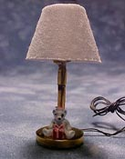 "TEC 1/2"" Scale Miniature Teddy Bear Table Lamp"