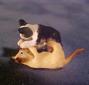 "1/2"" Scale Miniature Wrestling Kittens"