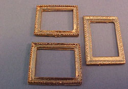 "1/2"" Scale Miniature Set of Three Gold Picture Frames"