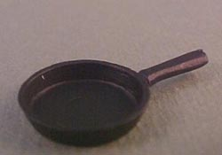 "1/2"" Scale Miniature Old Time Iron Look Frying Pan"