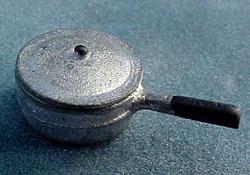"""1/2"""" Scale Miniature Aluminum Sauce Pan"""