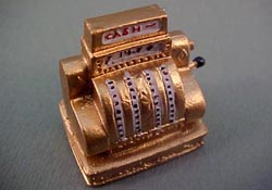 "1/2"" Scale Miniature Olde Time Cash Register"