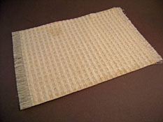 "Serendipity 1"" Scale Hand Made Woven Natural Cream Carpet"