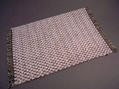 "Serendipity 1"" Scale Hand Made Woven Natural Cream and Black Carpet"