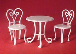 Townsquare 1/2&quot; Scale Ice Cream Parlor Table Set