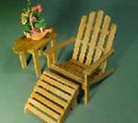 "1"" Scale Adirondack Chair and Table Set"