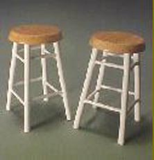 """1"""" Scale Pair Of Bar Stools"""