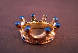 Bright deLights 1&quot; Scale Gold and Turquoise Crown