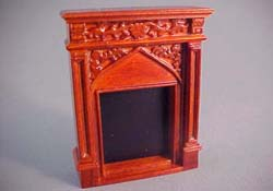 "John Baker 1/2"" Scale Walnut Fireplace"