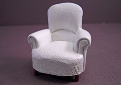 JBM Faux Leather Padded Tub Armchair 1:24