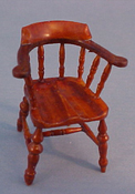 "John Baker 1/2"" Scale Walnut Kitchen Chair"