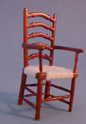 "John Baker 1/2"" Scale Walnut Ladder Back Chair"