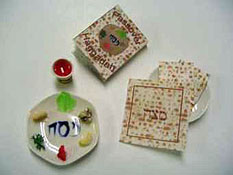 "By Barb 1"" Scale Passover Sedar Plate Set"