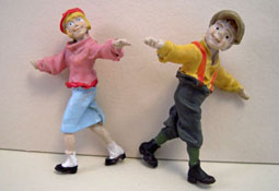 "Just Plain Folk 1/2"" Scale Poly-Resin Children At Play"