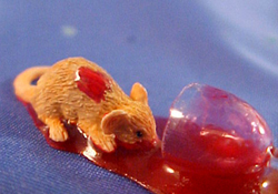 "1"" Scale Mouse Sipping Wine"
