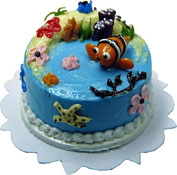 "Bright deLights 1"" Scale Clown Fish Cake"