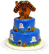 "Bright deLights 1"" Scale Halloween Ghostly Haunt Three Tier Cake"
