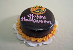 "Bright deLights 1"" Scale Happy Halloween Chocolate Cake"