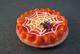 1&quot; Scale Black Spider Web Pie