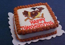 "Bright deLights 1"" Scale Happy Thanksgiving Sheet Cake"