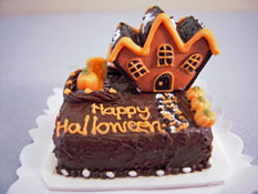 "Bright deLights 1"" Scale Happy Halloween Mansion Sheet Cake"
