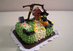"Bright deLights 1"" Scale Tiny Witch Hideaway Halloween Sheet Cake"