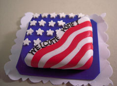 "Bright deLights 1"" Scale Welcom Home Sheet Cake"