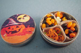 "Bright deLights 1"" Scale Tin Of Halloween Treats"