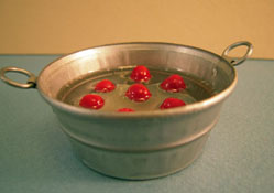 "1"" Scale Karen Aird Hand Crafted Bobbing For Apples"