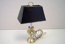 "1"" Scale Miniature Miniscules Black Shade Study Lamp"